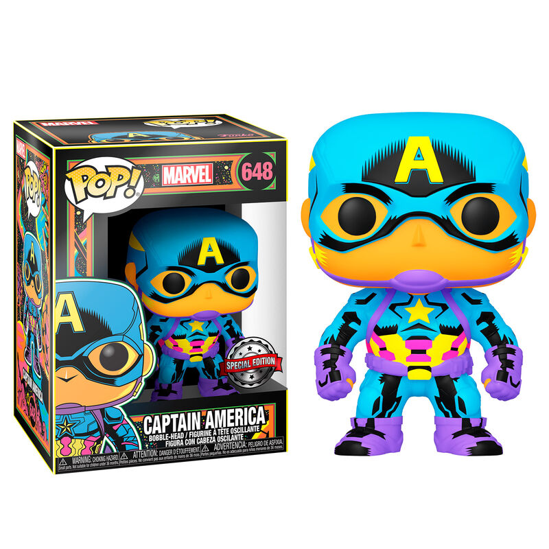 Funko POP o Figura POP Marvel Black Light Capitán America