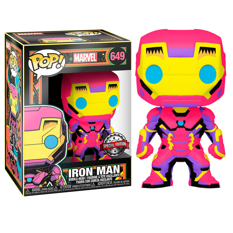 Funko POP o Figura POP Marvel Black Light Iron Man