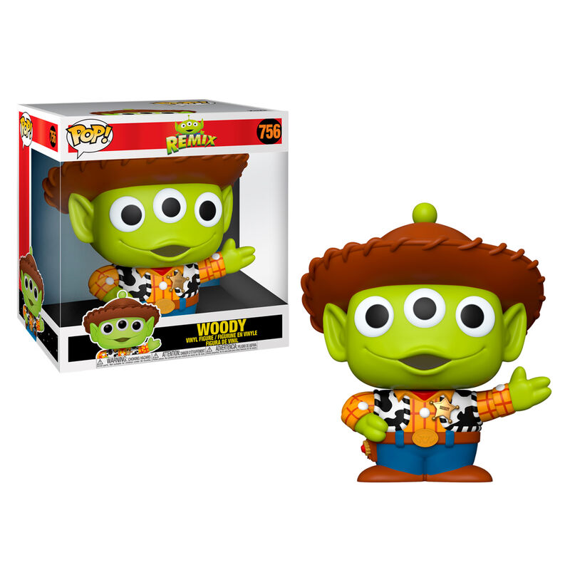 Funko POP o Figura POP Disney Pixar Alien Remix Woody 25cm