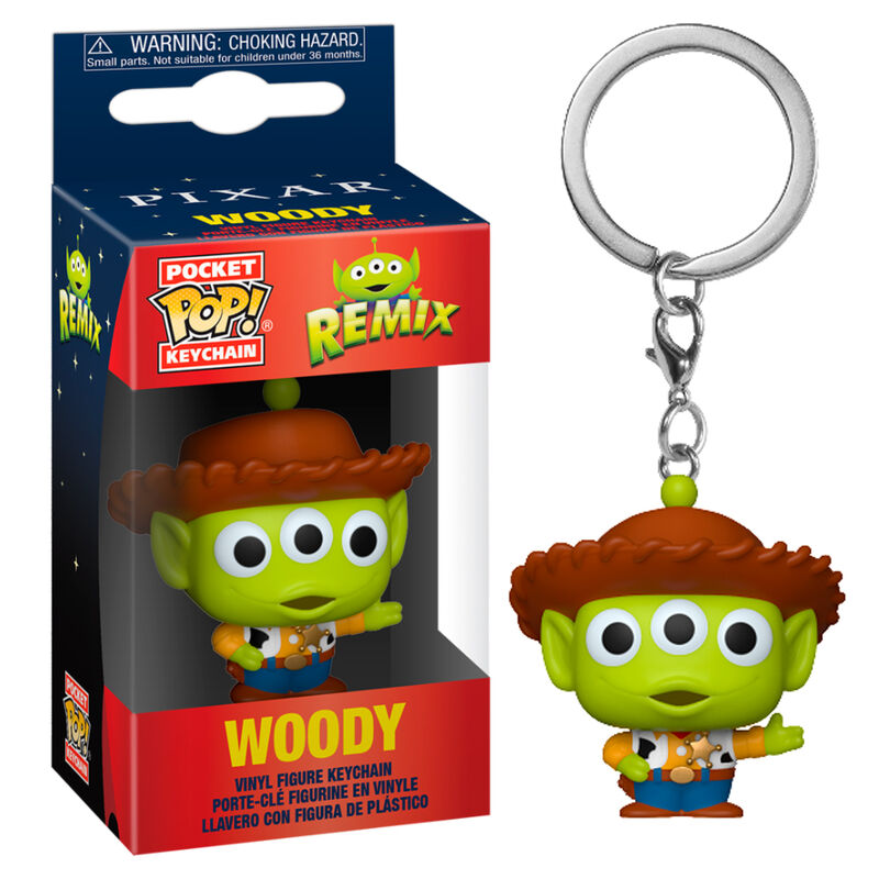 Llavero Pocket POP Disney Pixar Alien Remix Woody 889698483544