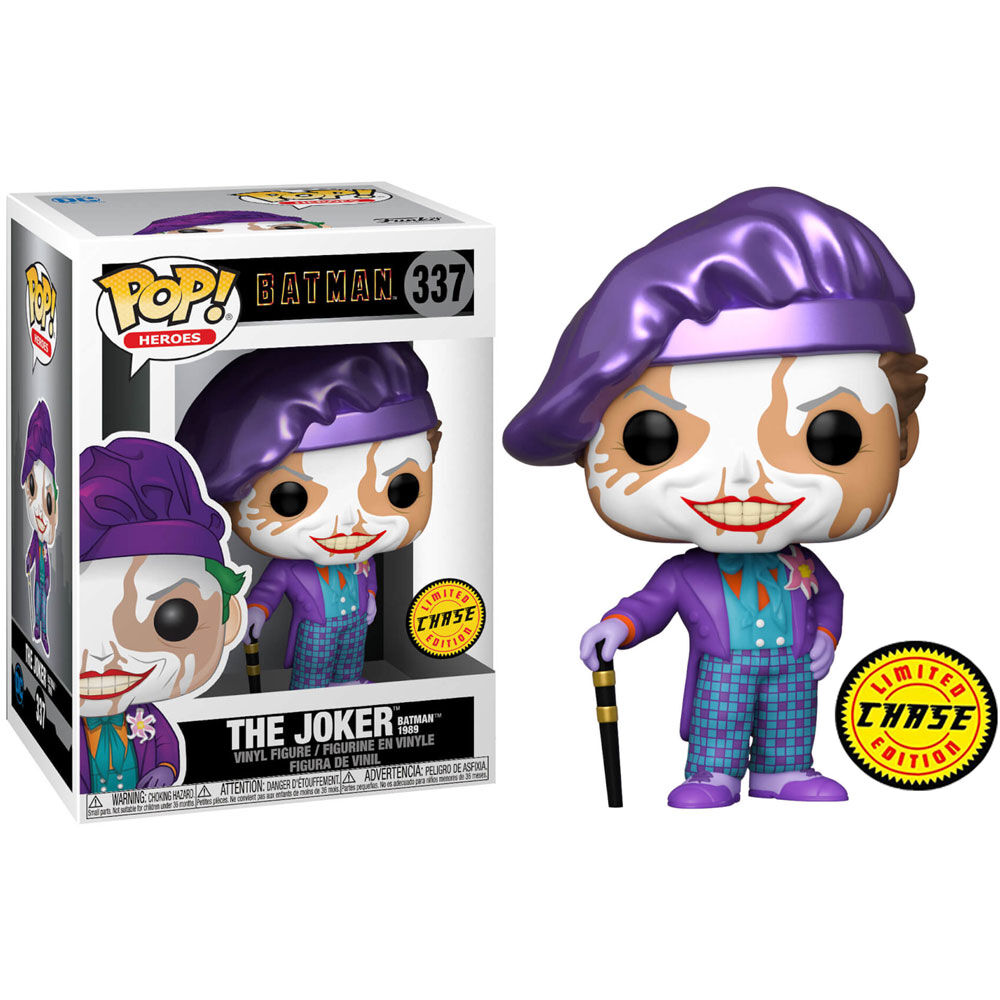 Funko POP o Figura POP DC Comics Batman 1989 Joker with Hat Chase
