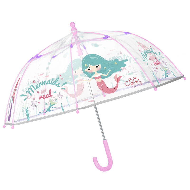 Paraguas manual transparente Sirena 42cm 18015831155729