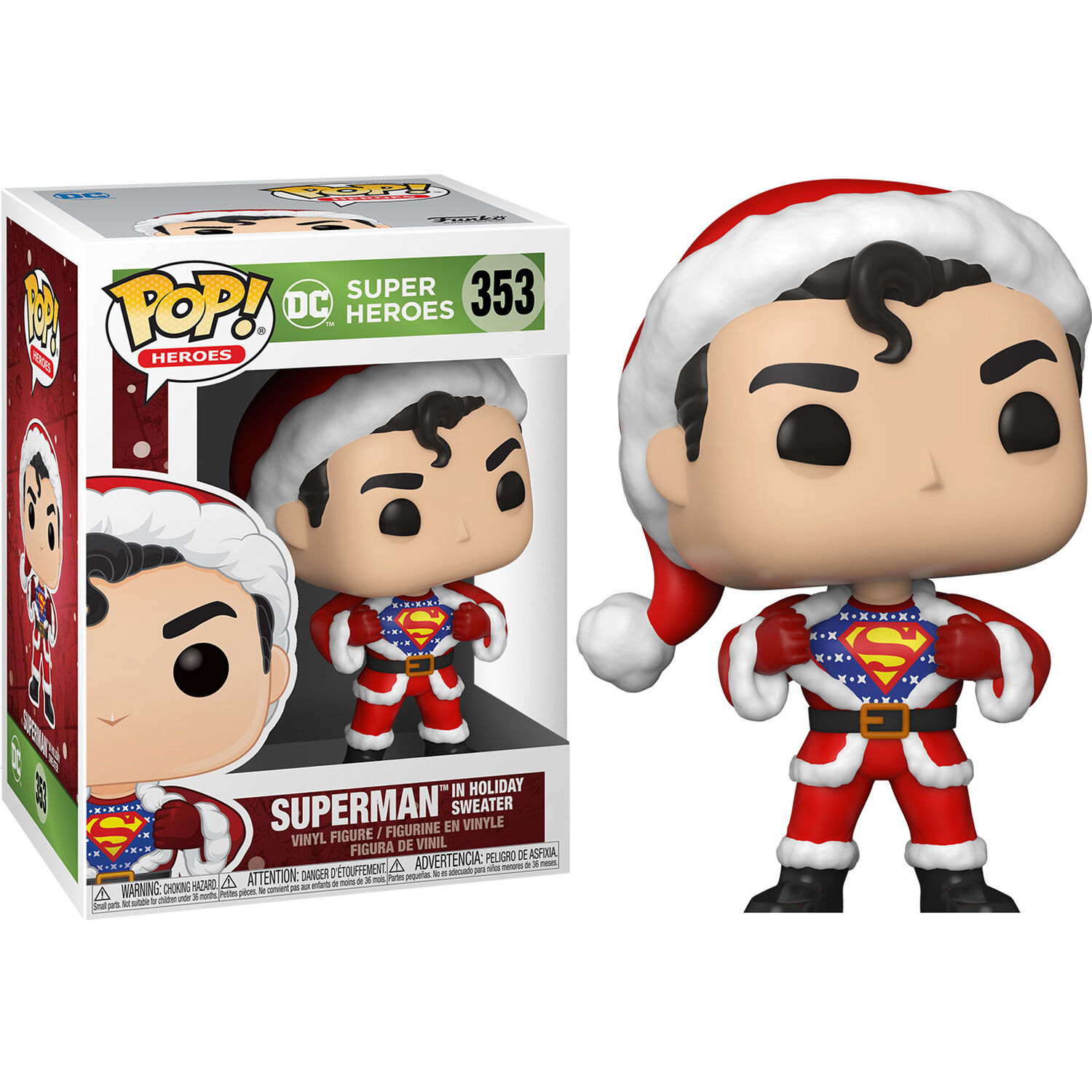 Funko POP o Figura POP DC Holiday Superman con Sweater