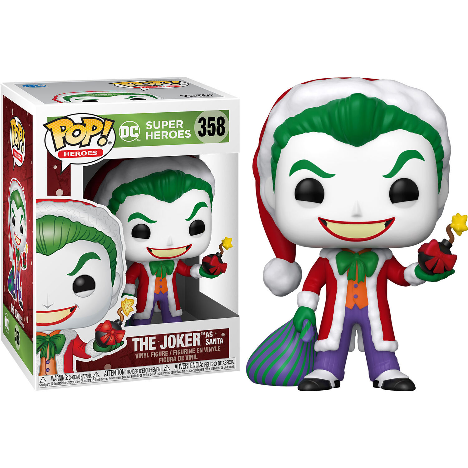 Funko POP o Figura POP DC Comics Holiday Santa Joker