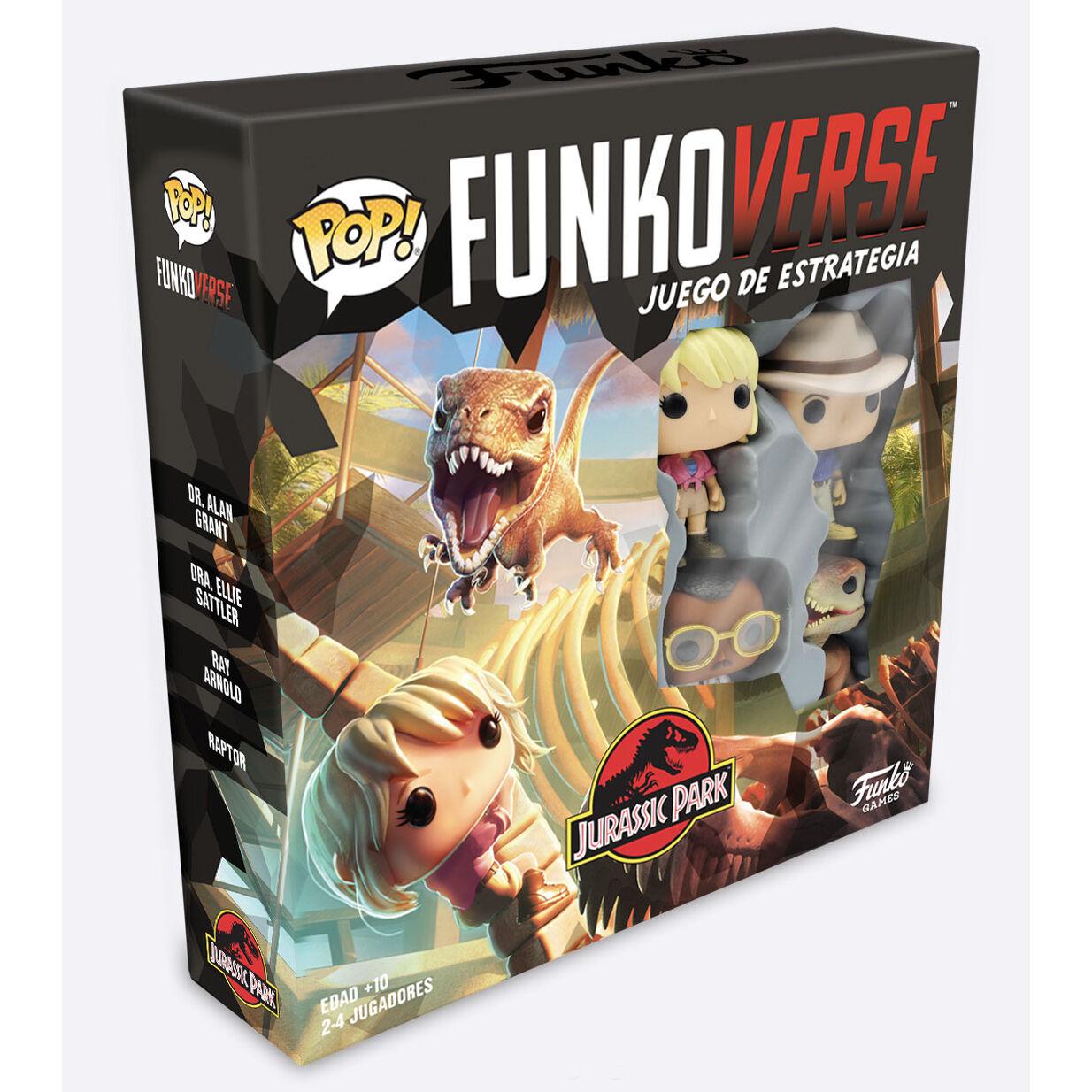 Juego mesa POP Funkoverse Jurassic Park 4 figuras en Español