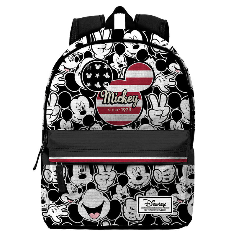Mochila Mickey U.S.A. Disney adaptable a carro 42cm