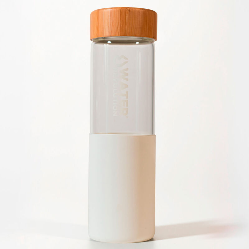 Botella Blanco Vidrio Silicona Water Revolution 660ml 8435607600308