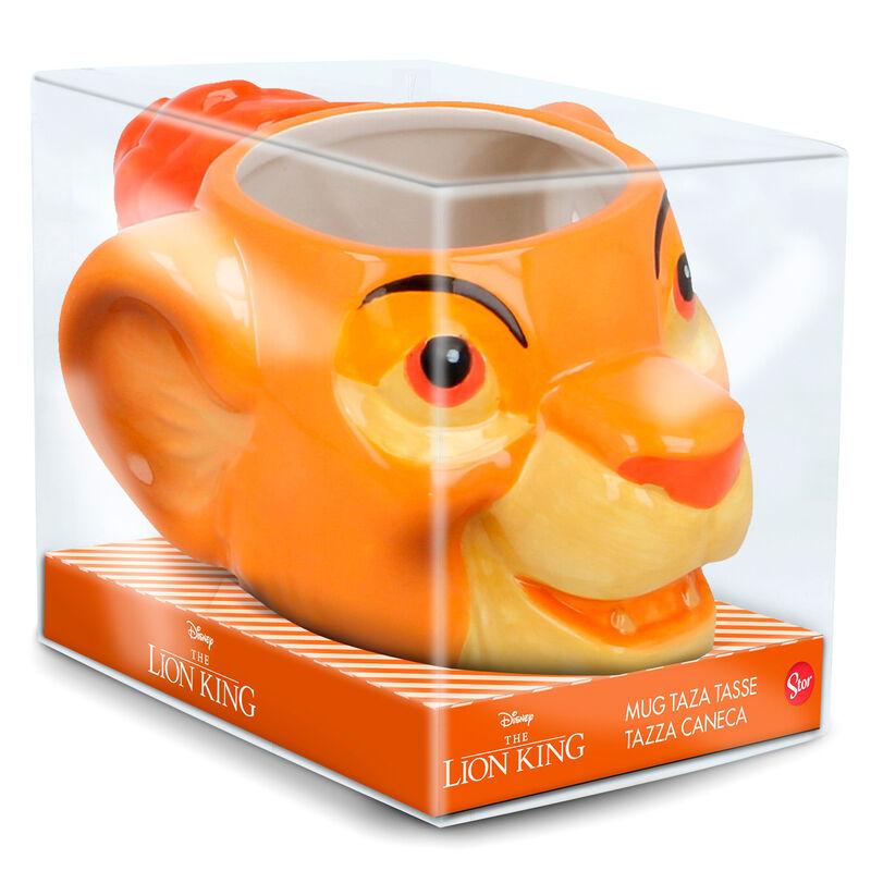 Taza 3D Simba El Rey Leon Disney
