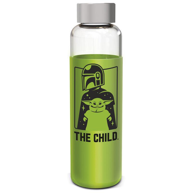 Botella cristal Yoda The Child The Mandalorian Star Wars funda silicona 585ml 8412497008650