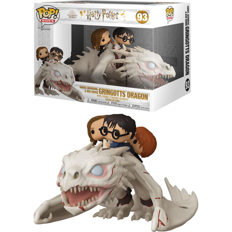 Funko POP o Figura POP Gringotts Dragon con Harry, Ron y Hermione Harry Potter