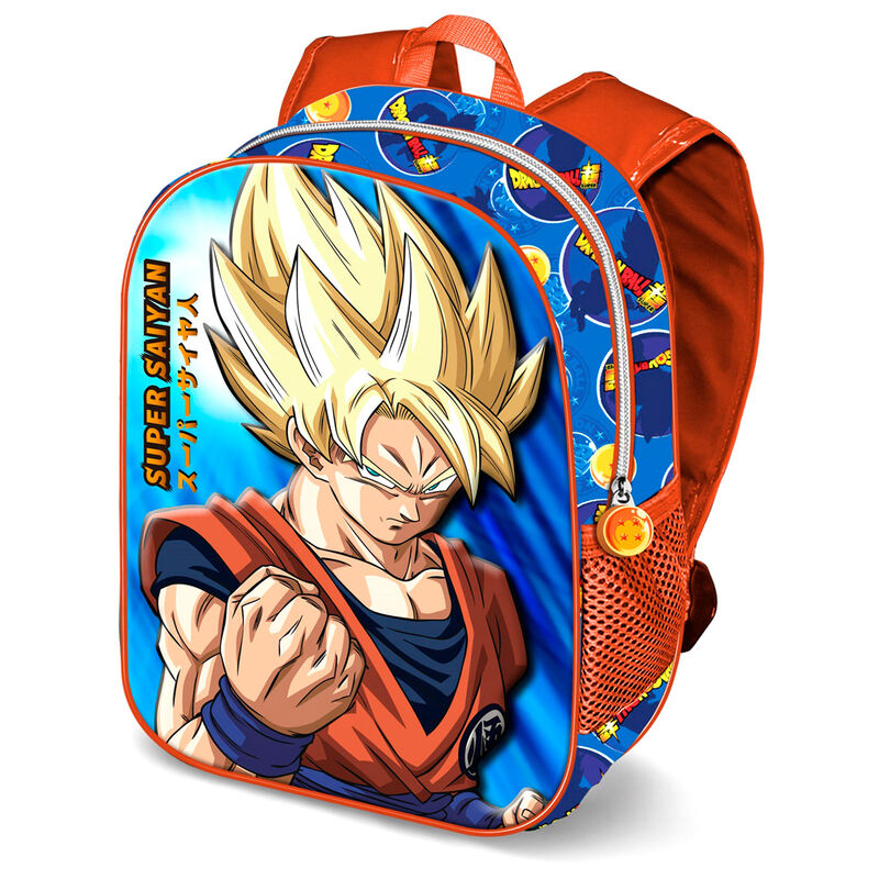 Mochila 3D Super Saiyan Dragon Ball 31cm
