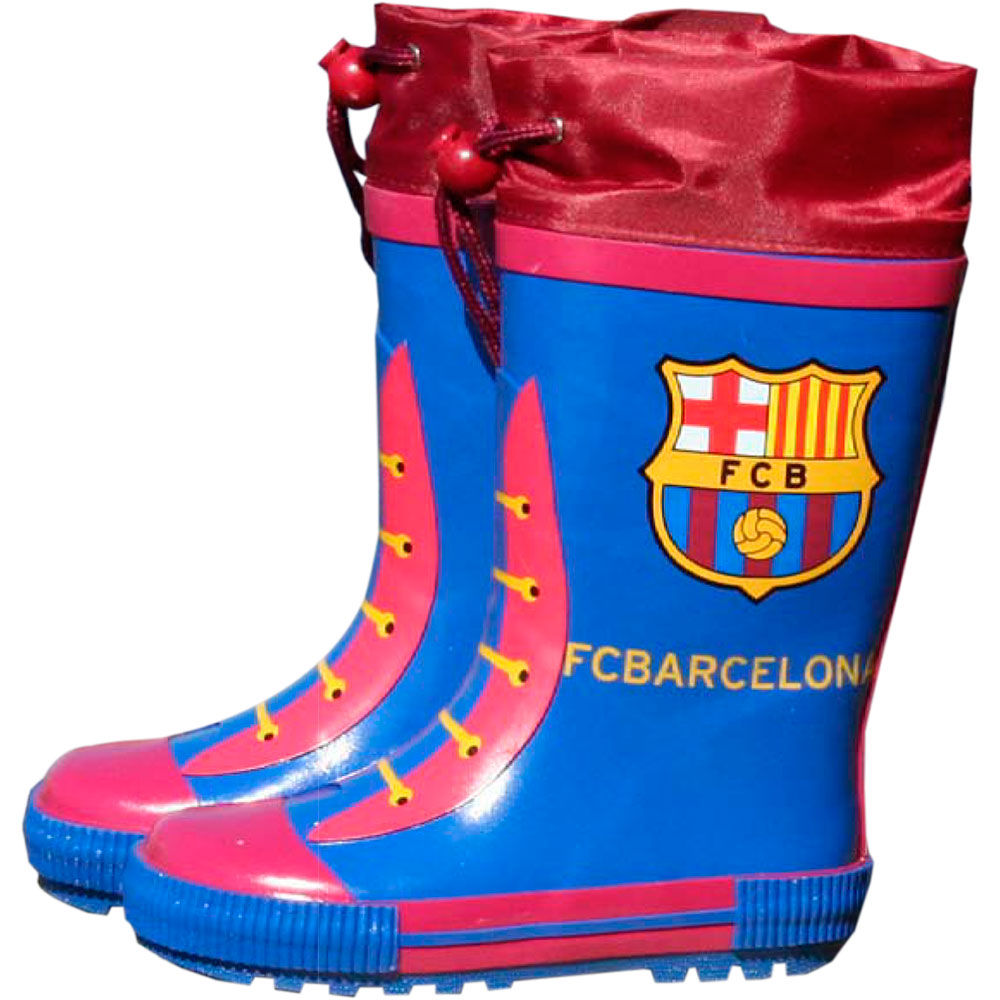 Botas agua azules cierre ajustable FC Barcelona 842514885953229