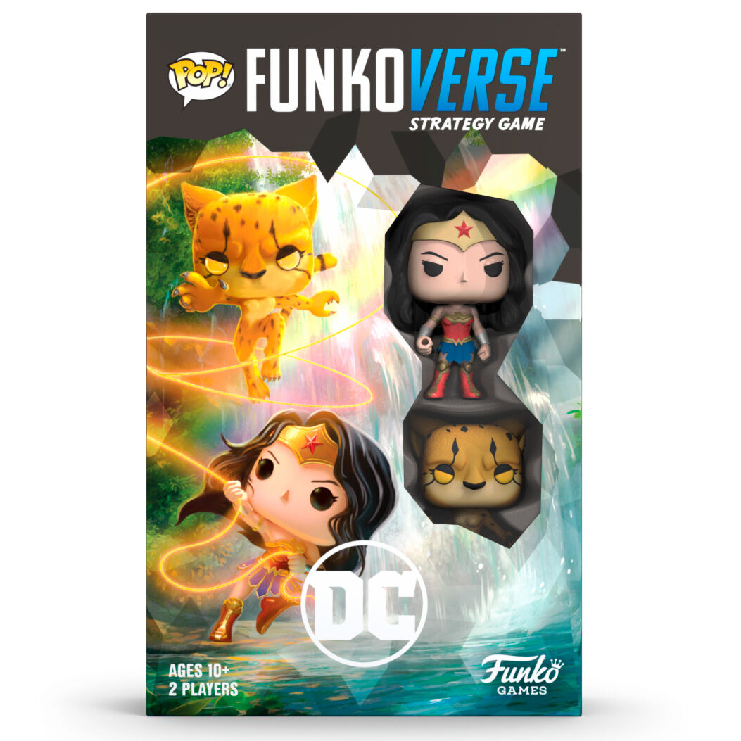 Juego mesa POP Funkoverse DC Comics Wonder Woman 2 figuras Ingles