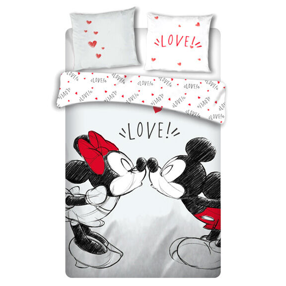 Funda nordica Love Mickey and Minnie Disney cama 135cm 5407007980949