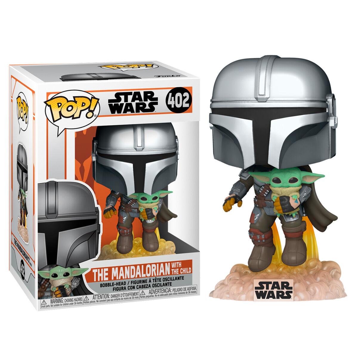 Figura POP Star Wars The Mandalorian Mando Flying with Jet Pack 889698509596