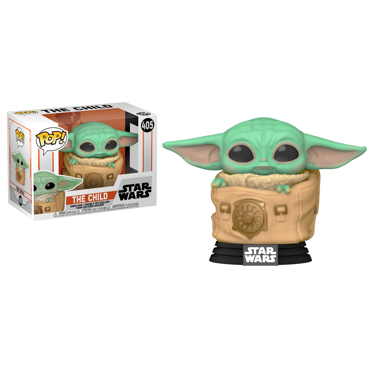 Funko POP o Figura POP Star Wars The Mandalorian Baby Yoda (The Child) Grogu con bolsa