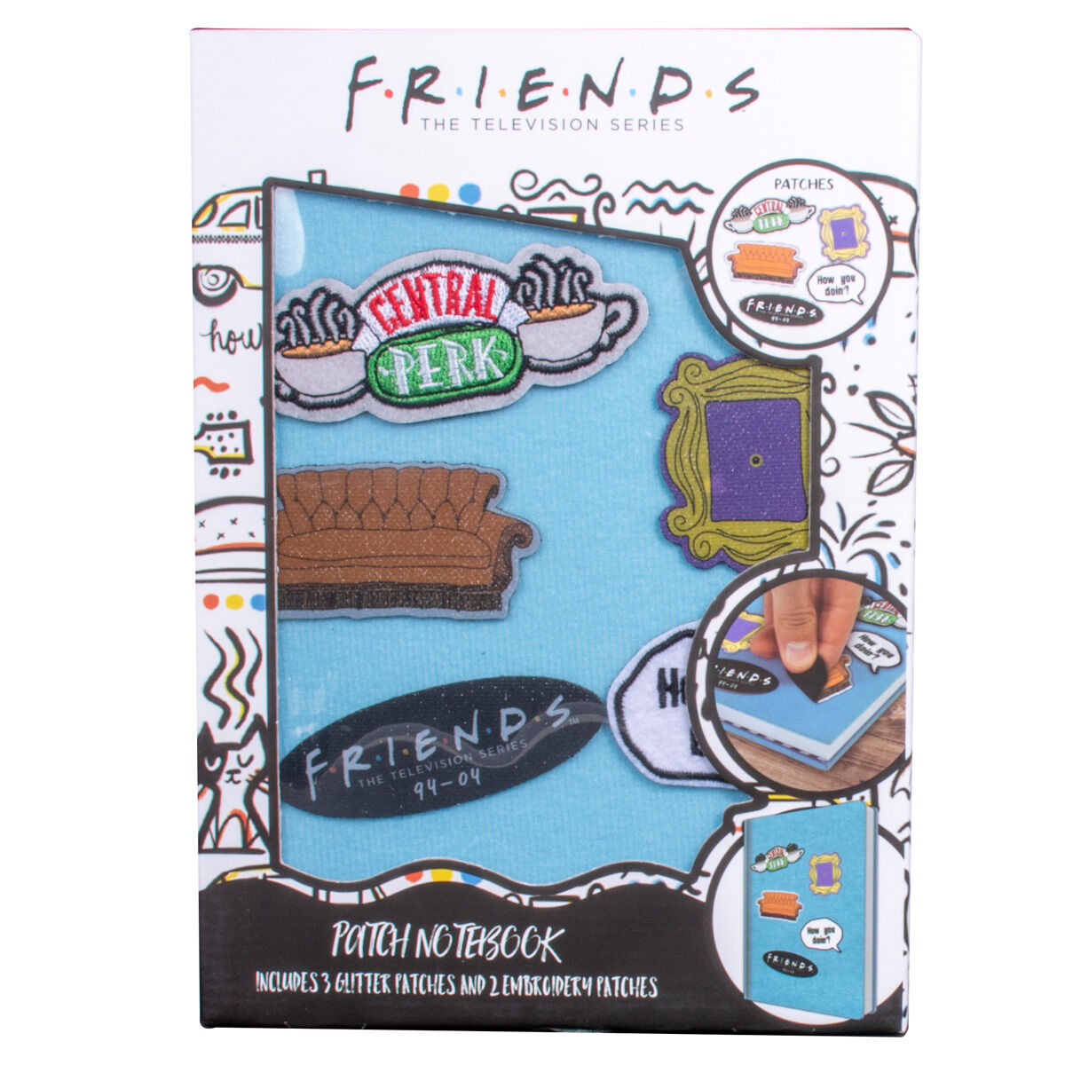 Cuaderno parches velcro Friends 5060718141742