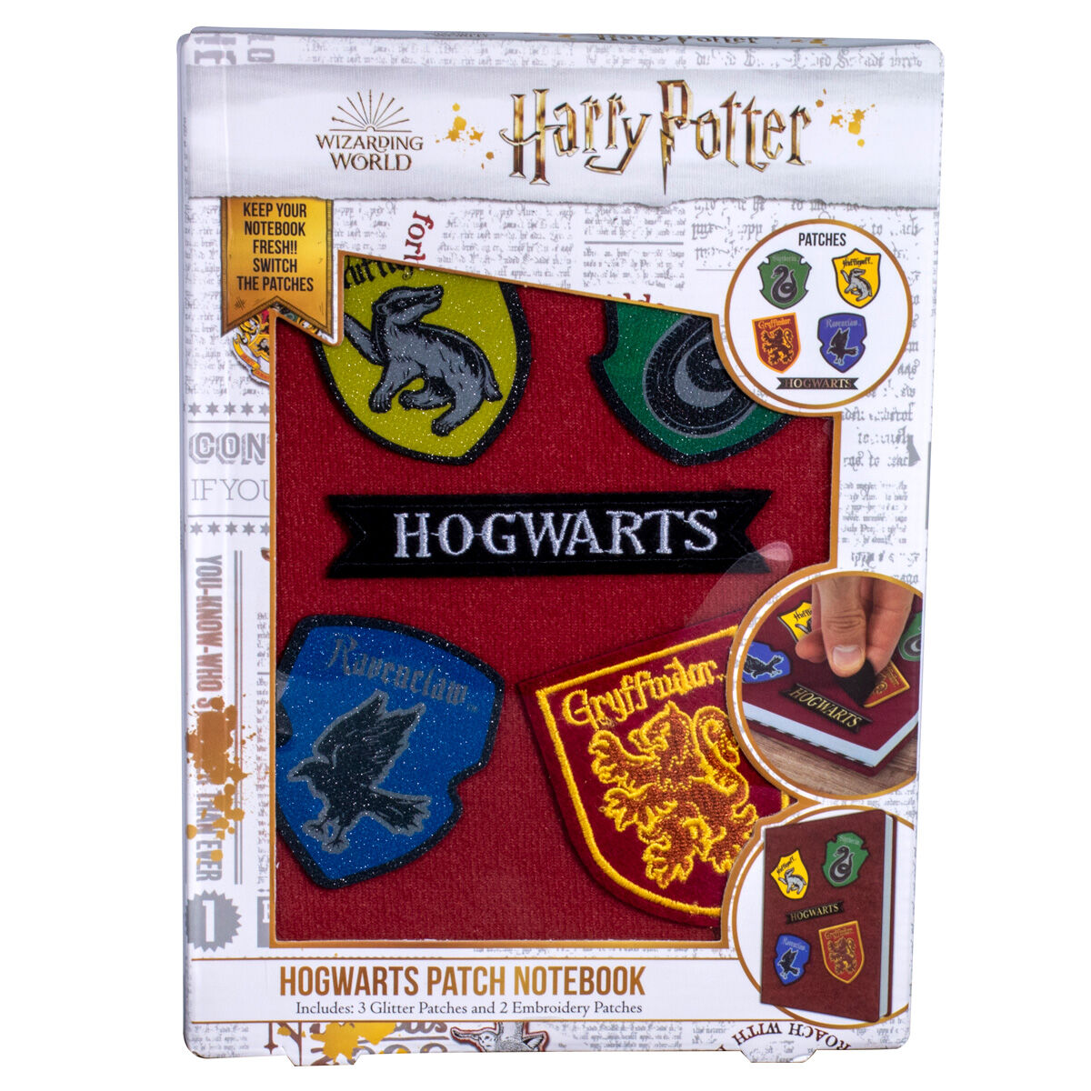 Cuaderno parches velcro Harry Potter 5060718140950