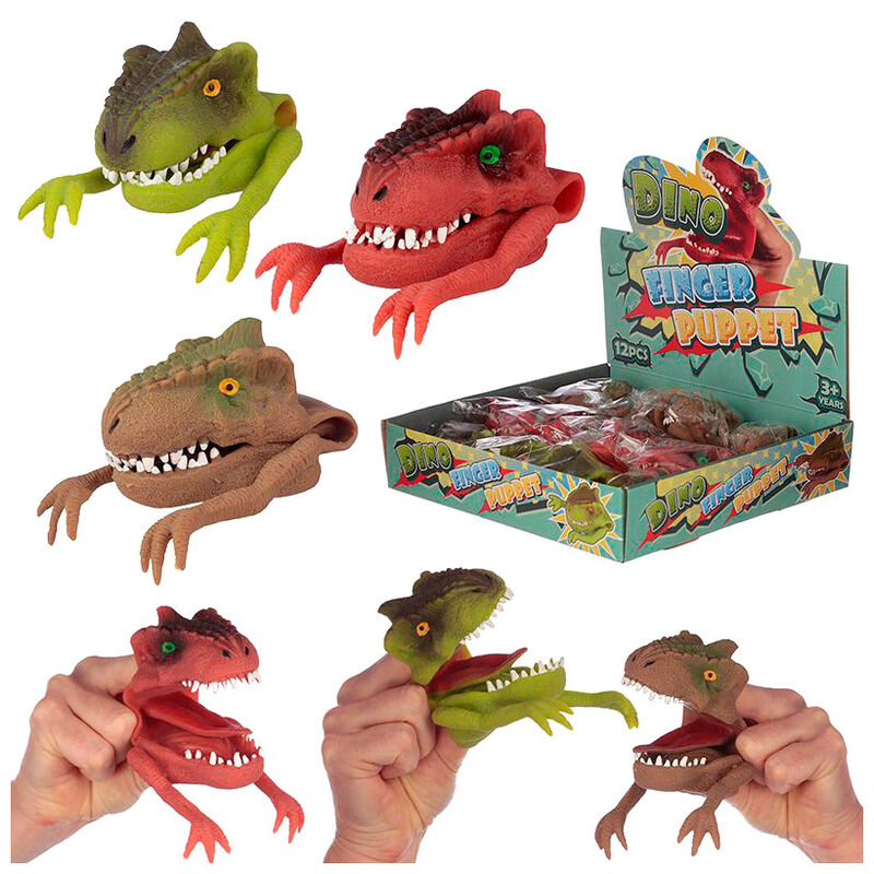 Marioneta dedo Dinosaurio surtido 5055071739361N