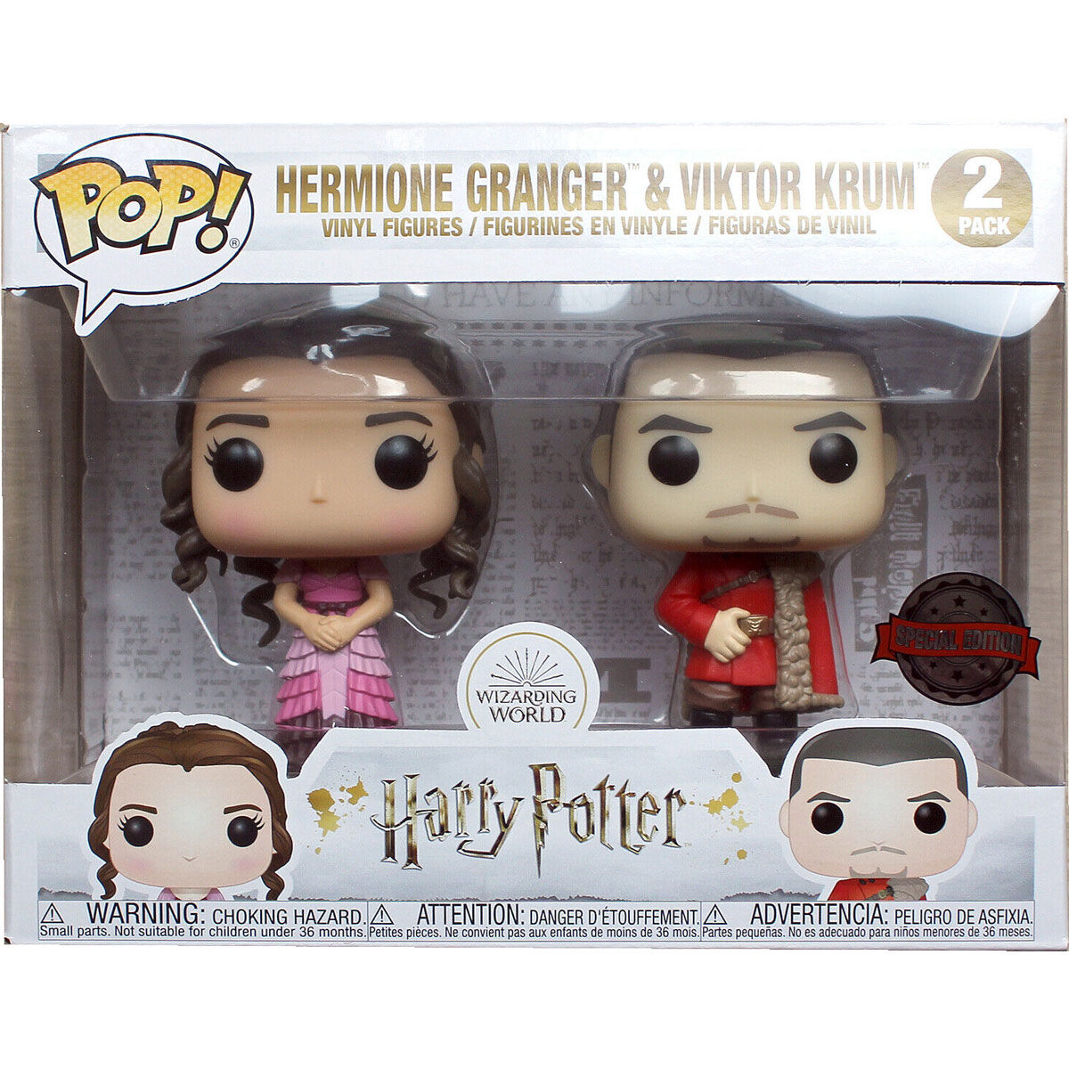 Set 2 figuras POP Harry Potter Hermione and Krum Yule Exclusive