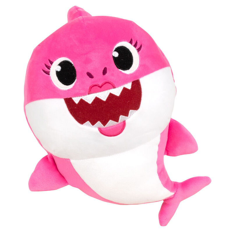 Peluche Mommy Shark Baby Shark spandex sonido 19cm 8425611390135rosa