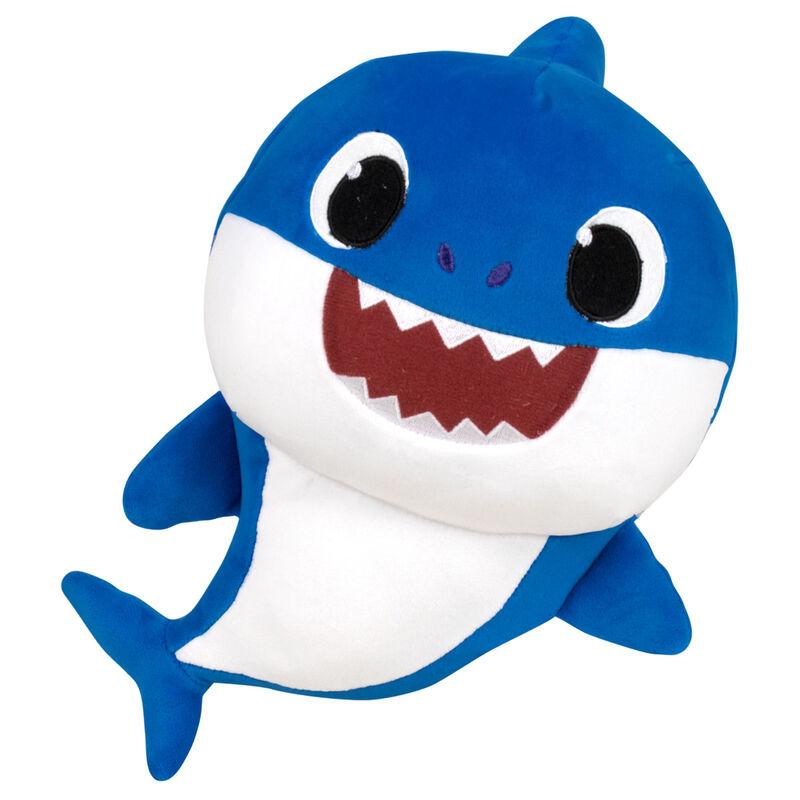 Peluche Daddy Shark Baby Shark spandex sonido 19cm 8425611390135azul