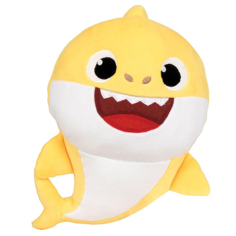 Peluche Baby Shark spandex sonido 19cm 8425611390135amarillo
