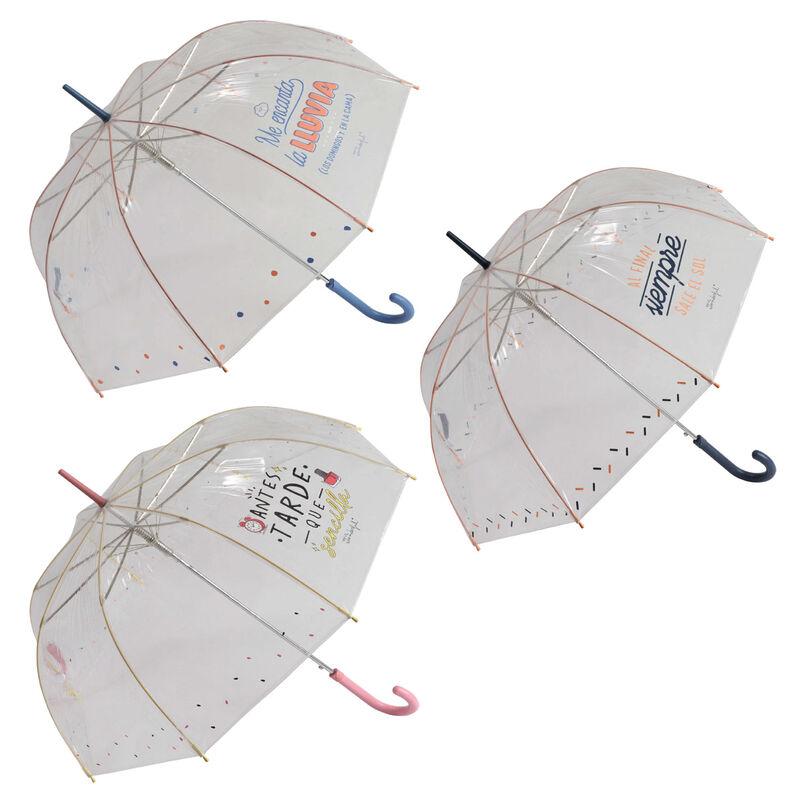 Paraguas automatico burbuja Frases Mr. Wonderful surtido 61cm 8424159191808