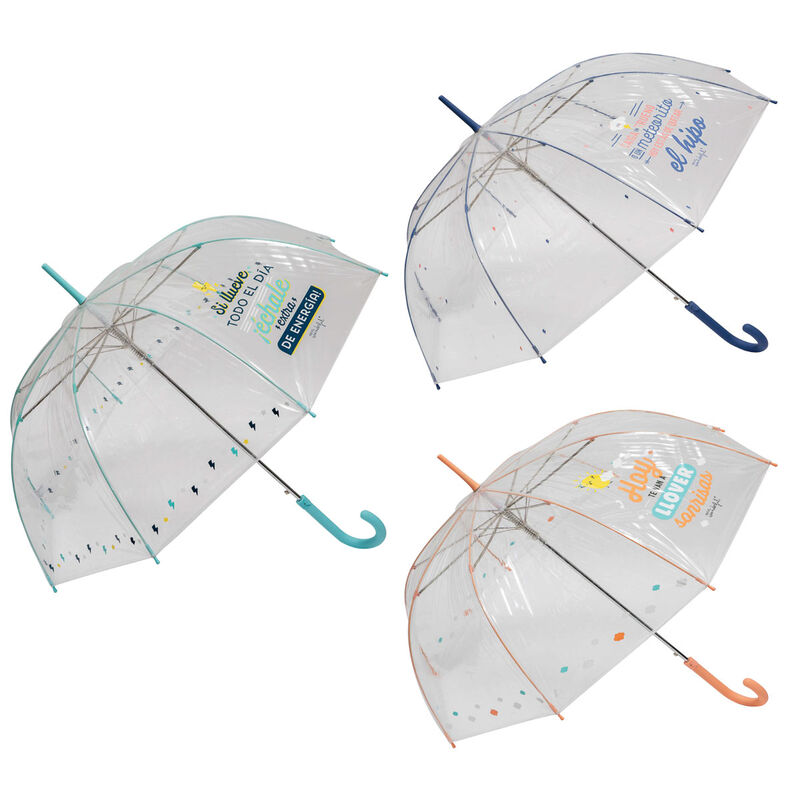 Paraguas automatico burbuja Frases Mr. Wonderful surtido 61cm 8424159191907
