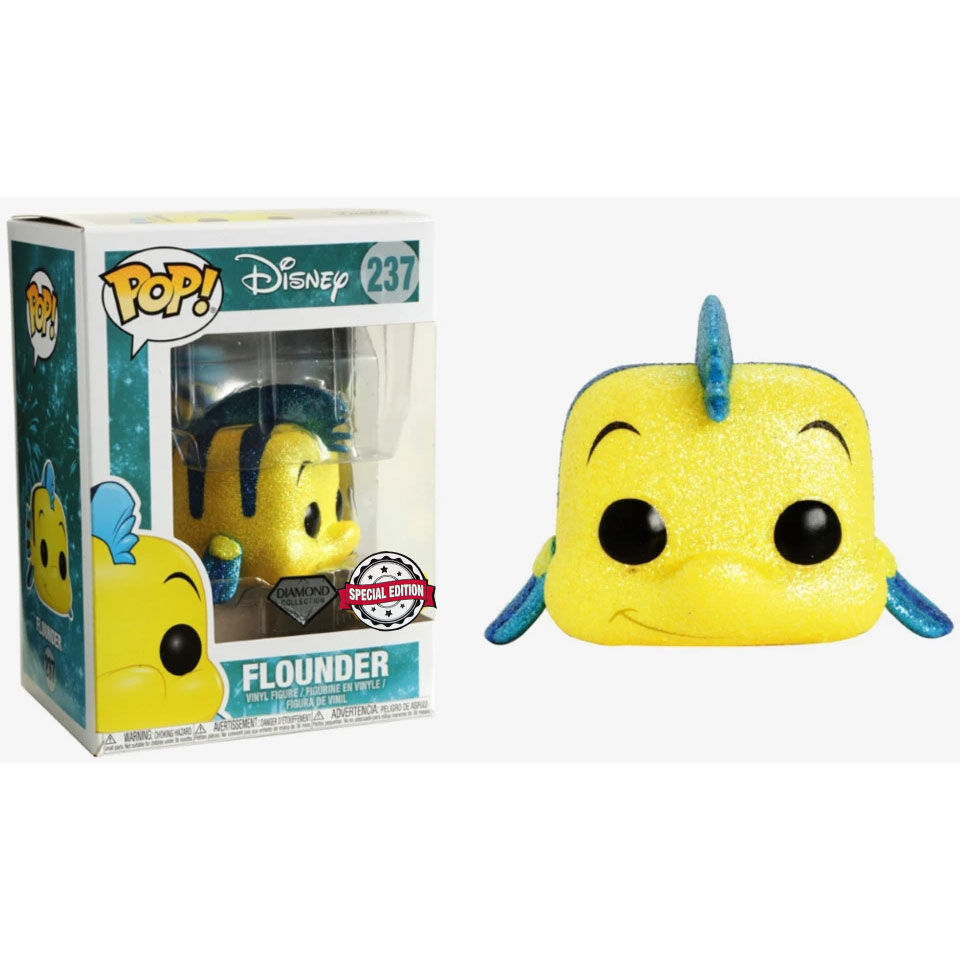Funko POP o Figura POP Disney The Little Mermaid Flounder Glitter Exclusive