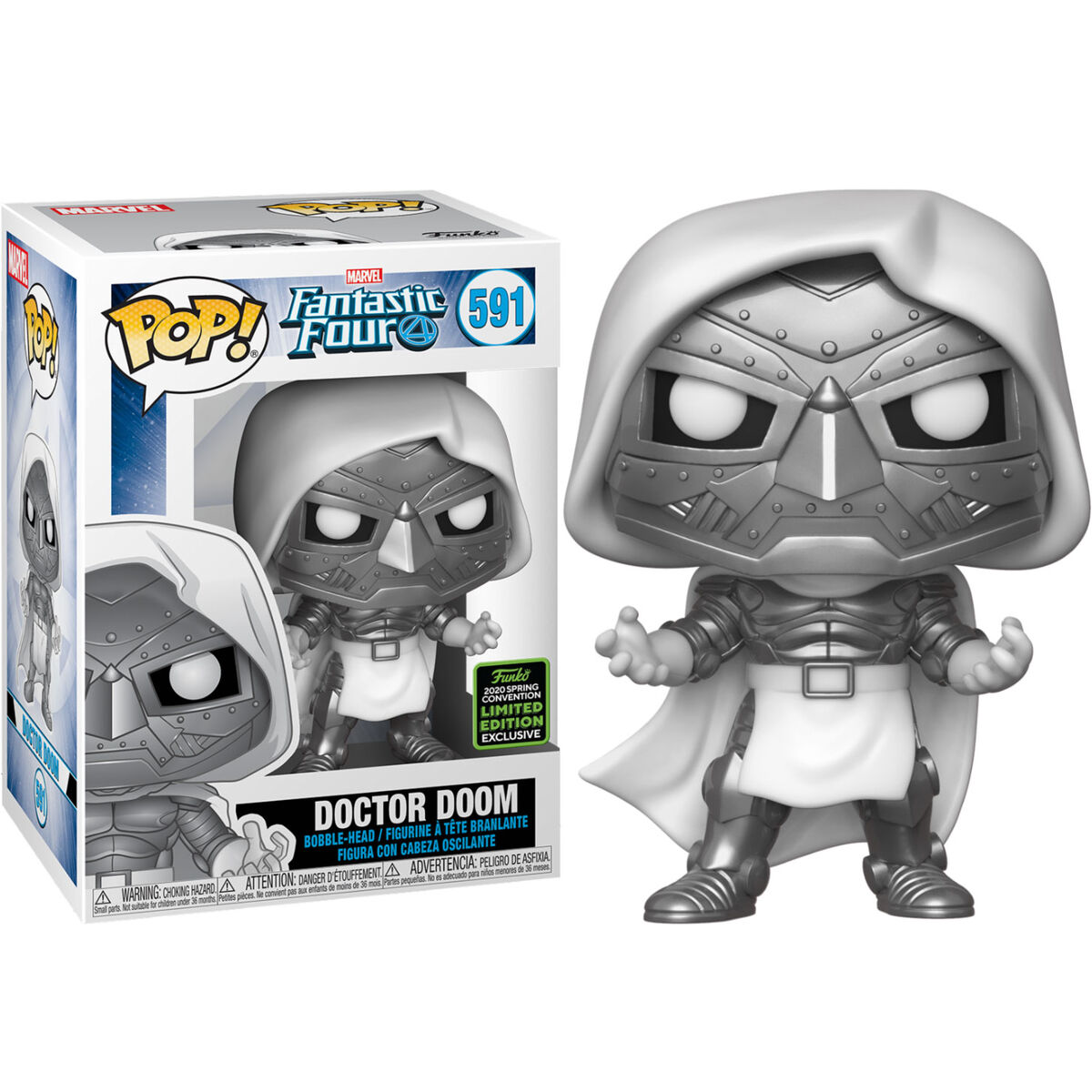 Funko POP o Figura POP Marvel Los 4 Fantasticos Doctor Doom Exclusive