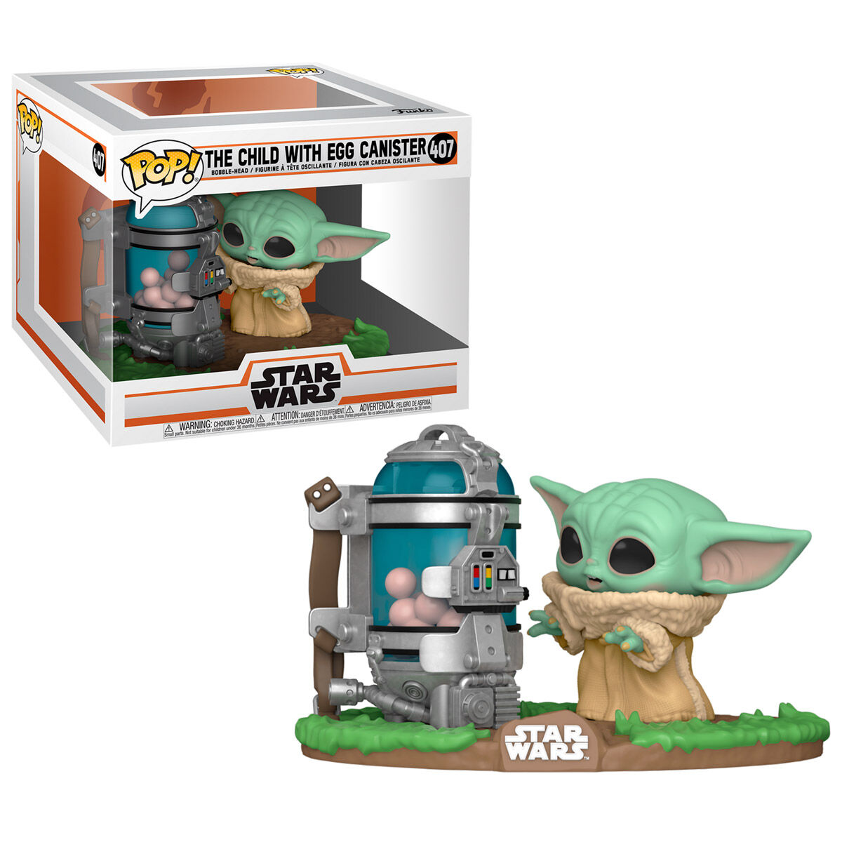 Figura POP Star Wars The Mandalorian Child with Canister 889698509626