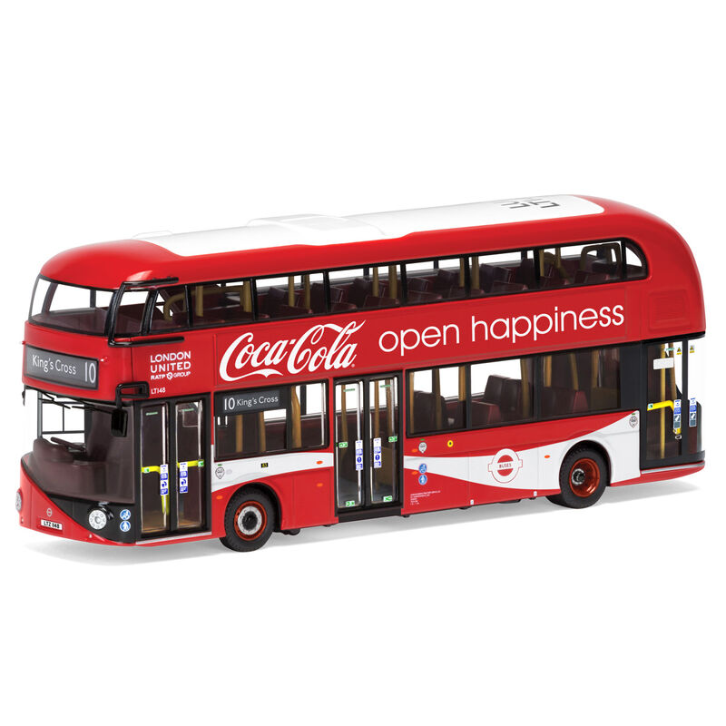 Autobus New Routemaster  London United  Route 10 Kings Cross Coca Cola 5055286670985
