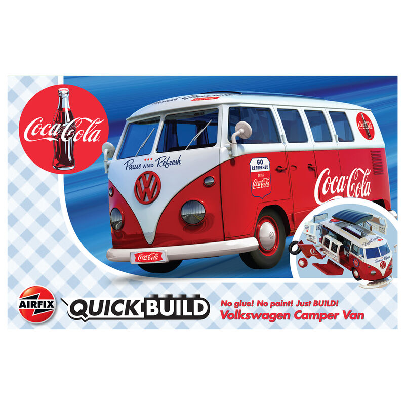 Camper Van VW QuickBuild Coca Cola 5055286668456