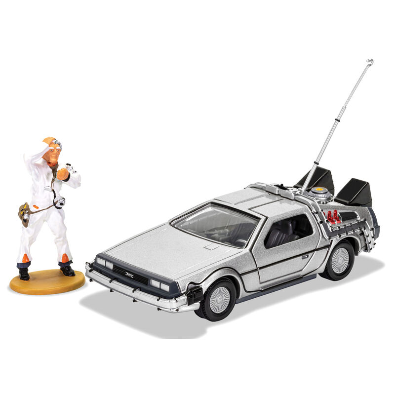 Set DeLorean + figura Doc Brown Regreso al Futuro 5055286673719