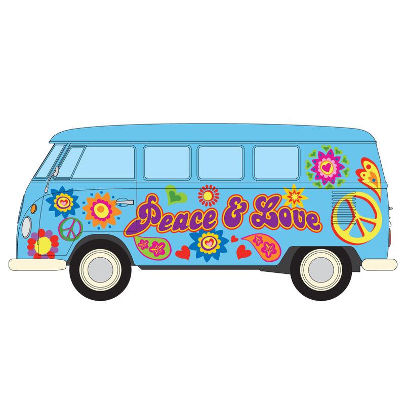 Campervan Volkswagen Peace Love and Freedom 5055286670268