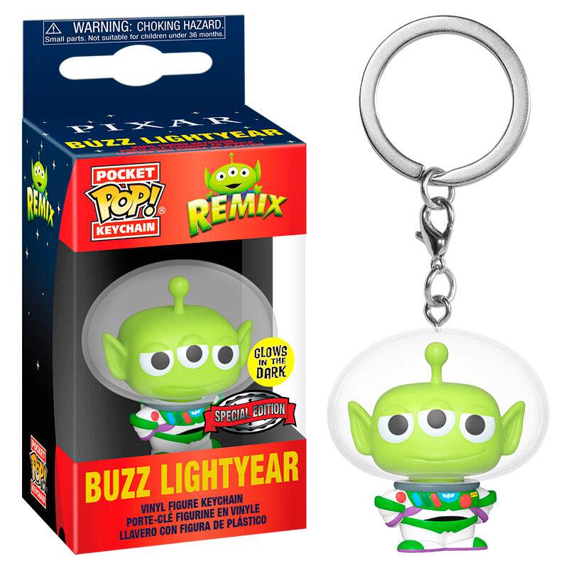 Llavero Pocket POP Disney Pixar Alien Remix Buzz Glow Exclusive 889698488365