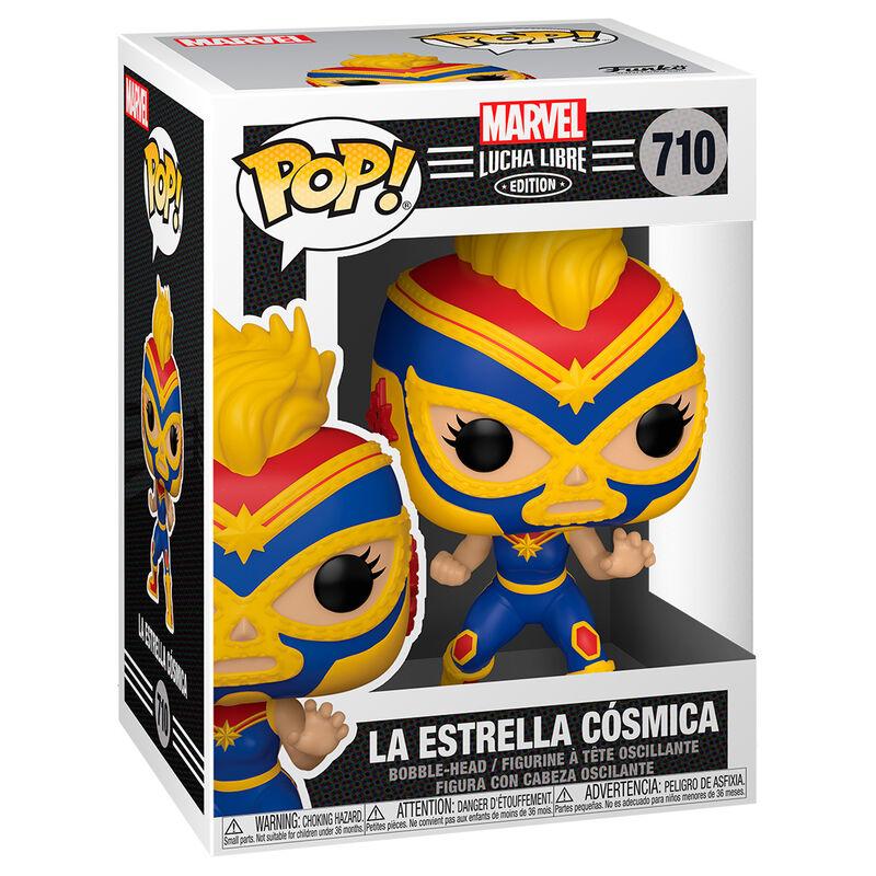 Funko POP o Figura POP Marvel Luchadores Captain Marvel La Estrella Cosmica