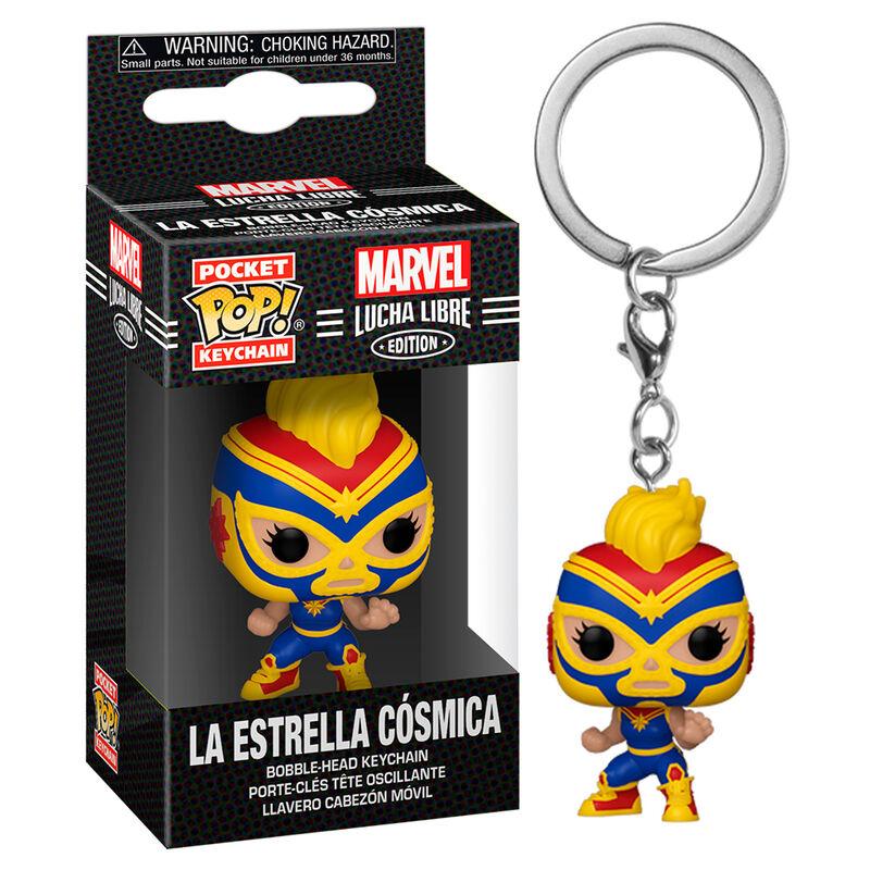 Llavero Pocket POP Marvel Luchadores Captain Marvel La Estrella Cosmica