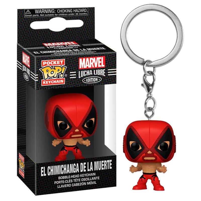 Llavero Pocket POP Marvel Luchadores Deadpool La Chimiganga de la Muerte