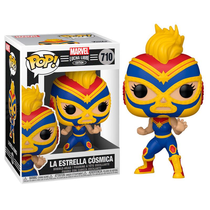 Figura POP Marvel Luchadores Captain Marvel La Estrella Cosmica 889698538725