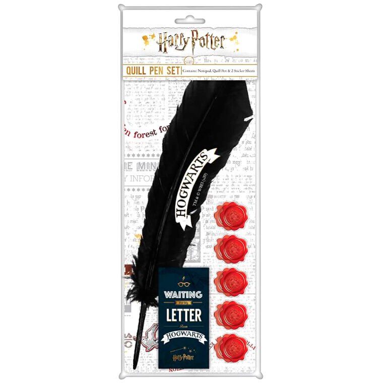 Set papeleria boligrafo Pluma Harry Potter