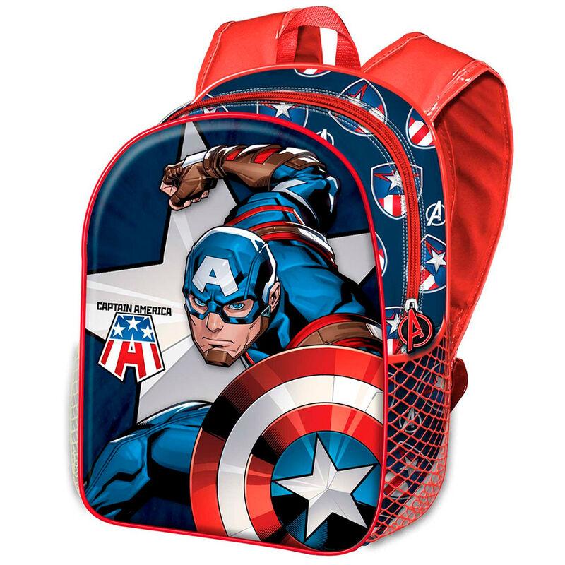 Mochila 3D Capitan America Marvel 31cm 8445118015928