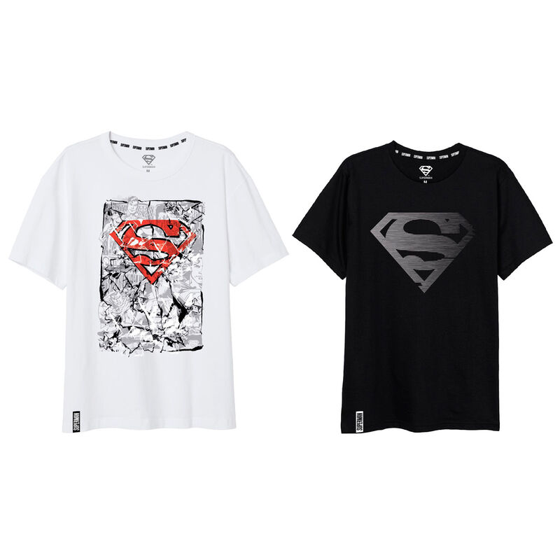 Camiseta Superman DC Comics TALLA L - COLOR BLANCO