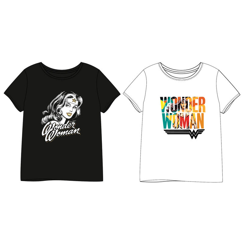 Camiseta Wonder Woman DC Comics adulto mujer TALLA XL - COLOR NEGRO