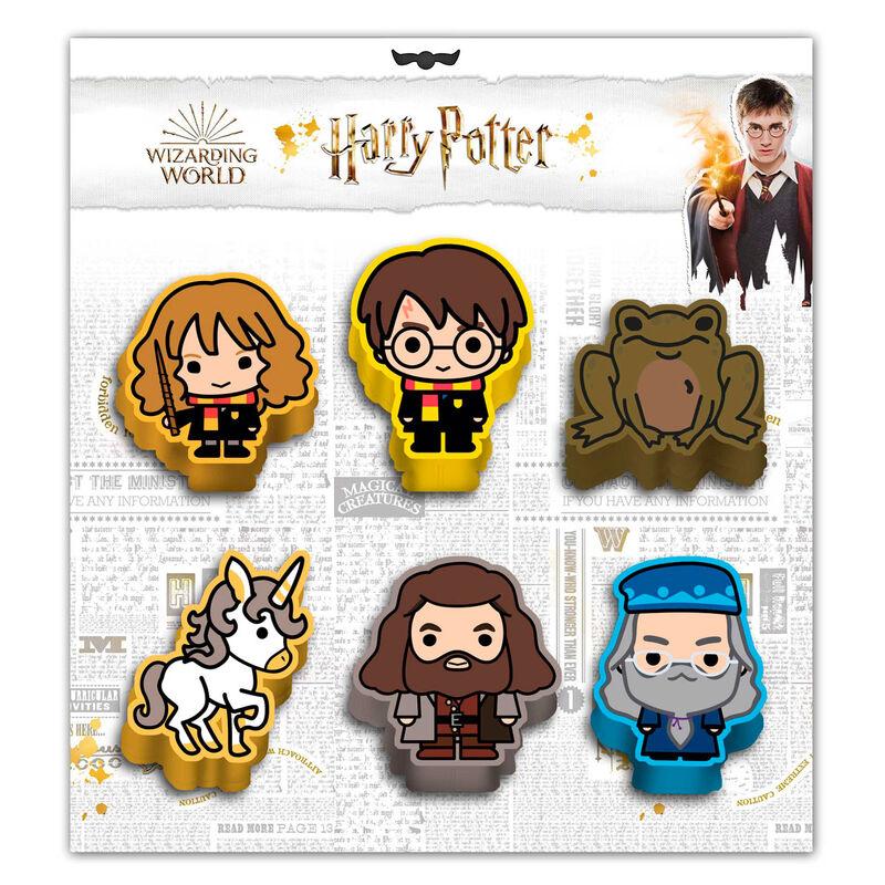 Set 6 gomas borrar Wizard Harry Potter 8445118021608