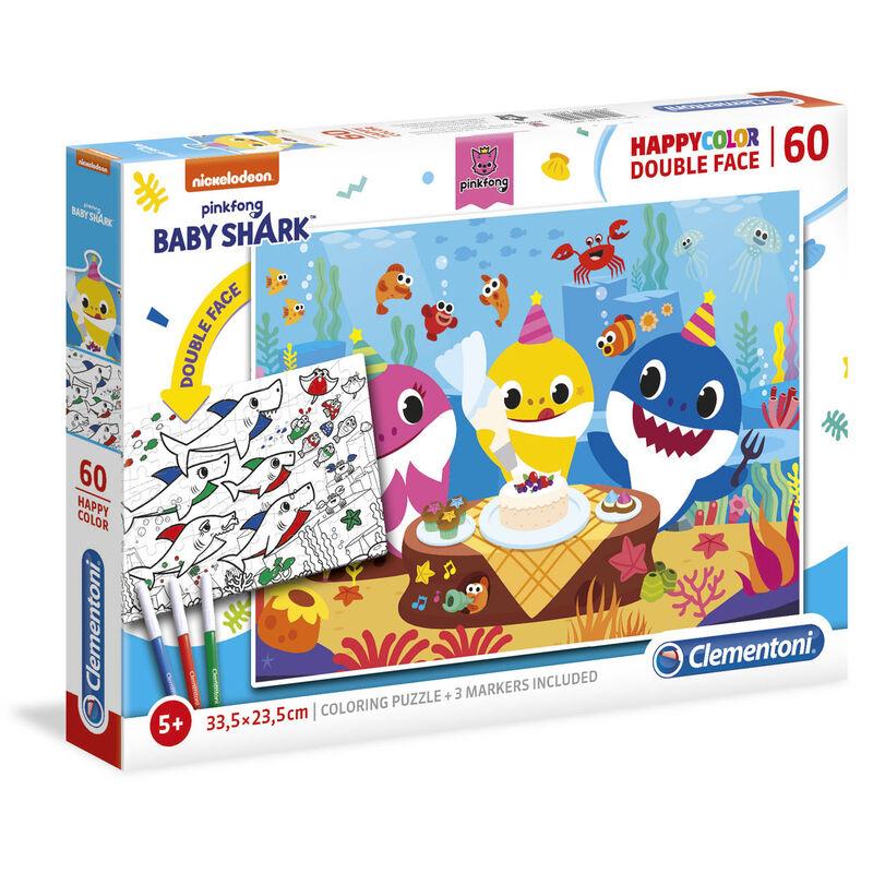 Puzzle Happy Color Baby Shark 60pzs 8005125260959