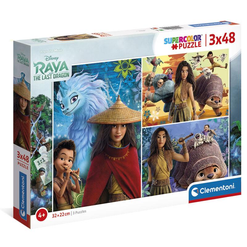 Puzzle Raya y el Ultimo Dragon Disney 3x48pzs 8005125252596