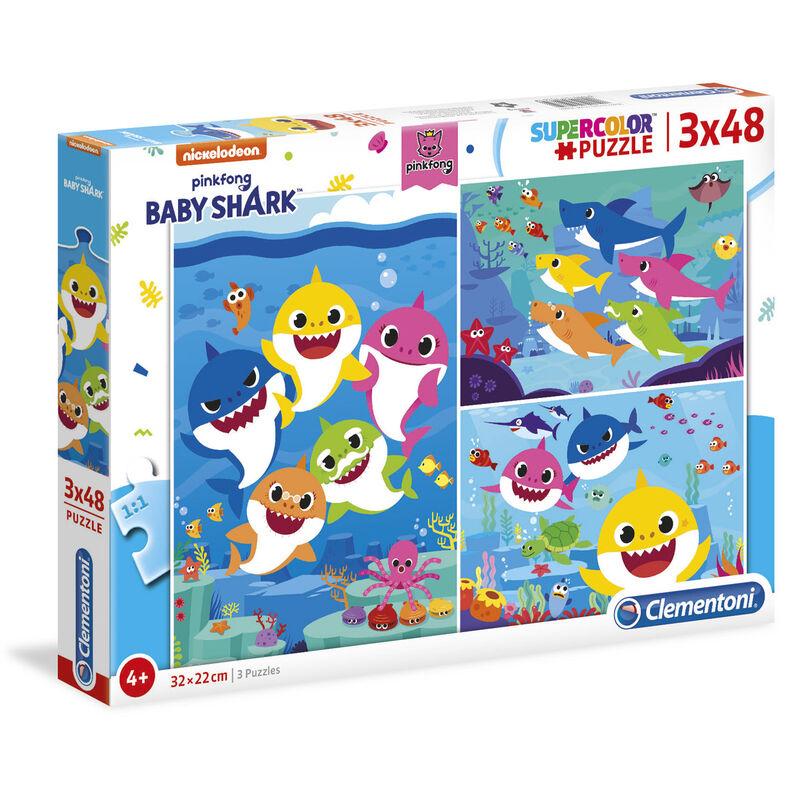 Puzzle Baby Shark 3x48pzs 8005125252619