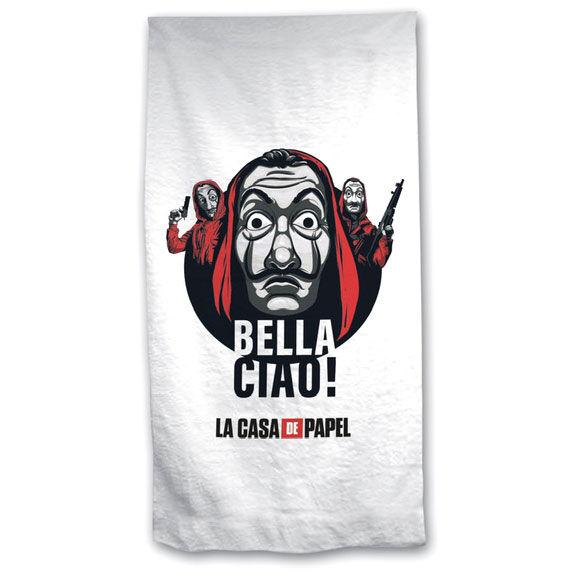 Toalla Bella Ciao! La Casa de Papel microfibra 5407007982837